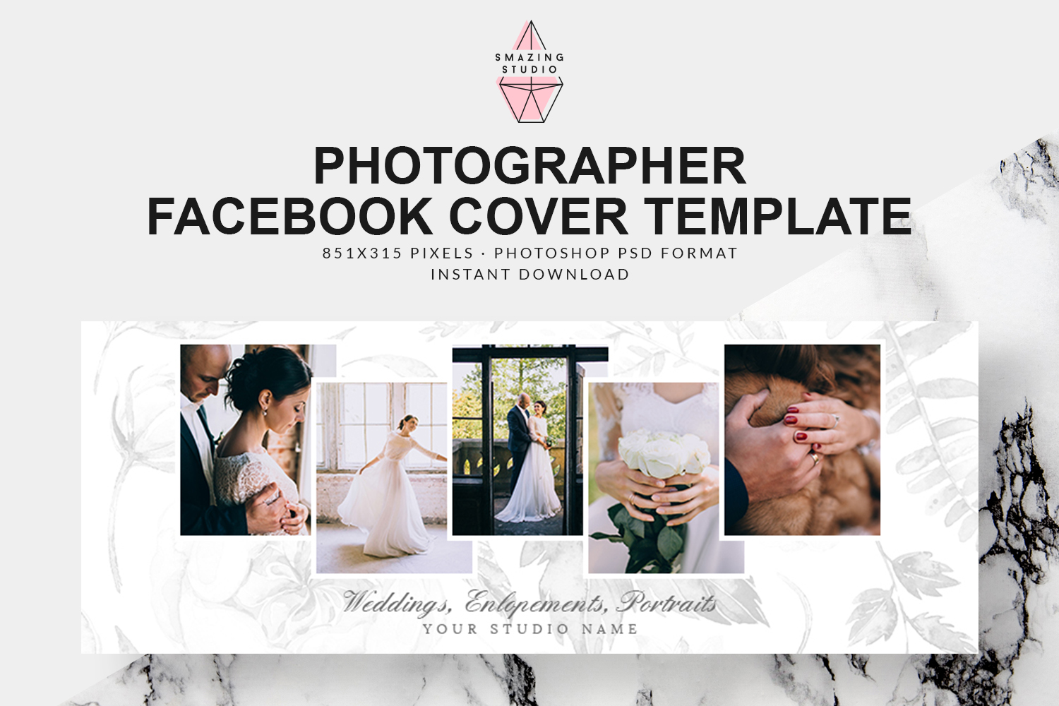 Photographer Facebook Cover Template - FBC009 example image 1