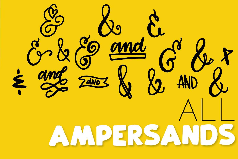 Catchwords & Ampersands - A Dingbat Font example image 3