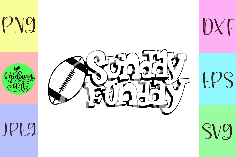 Sunday funday svg, football svg example image 2