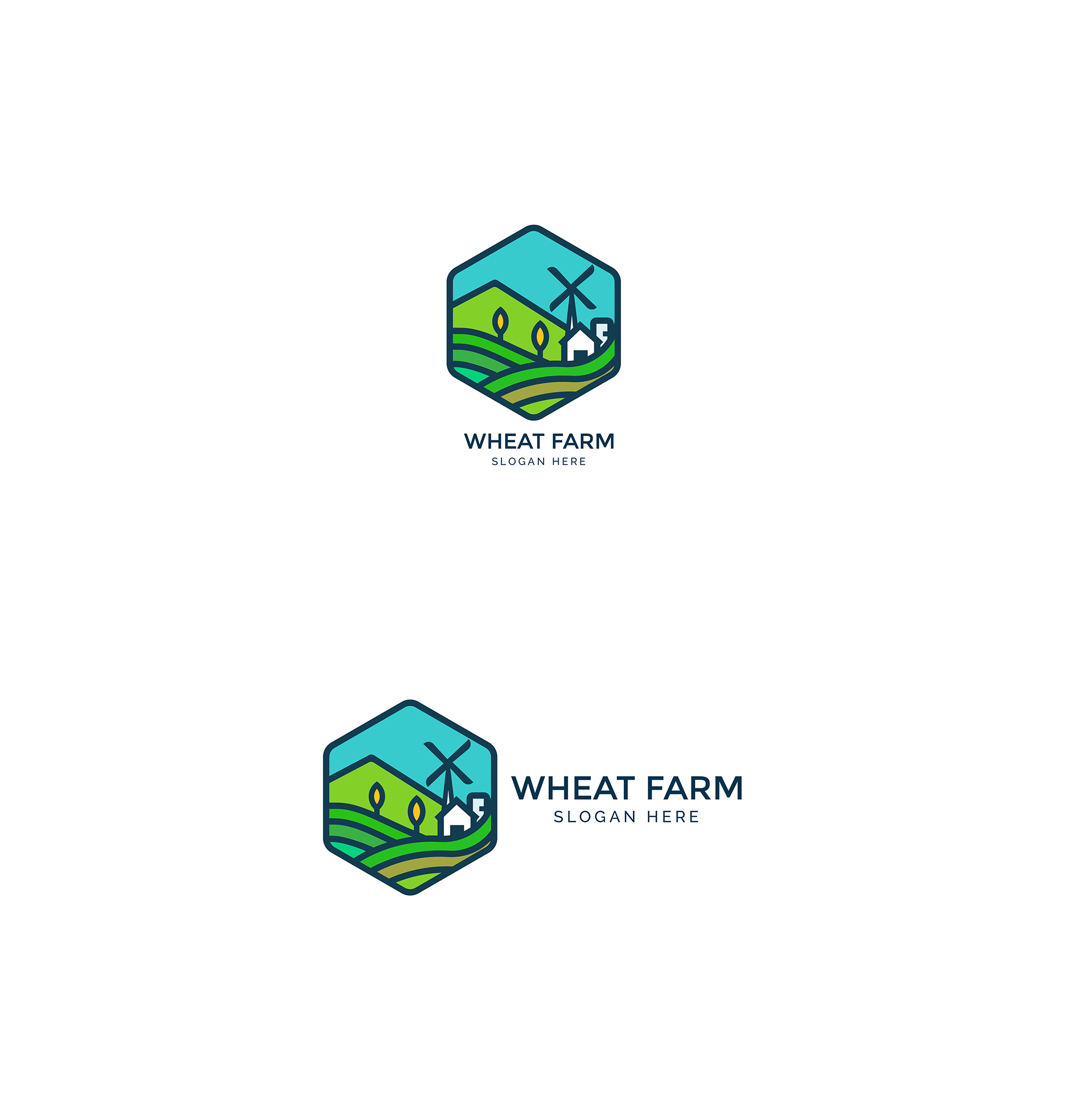 Agriculture - Wheat Farm Logo example image 4