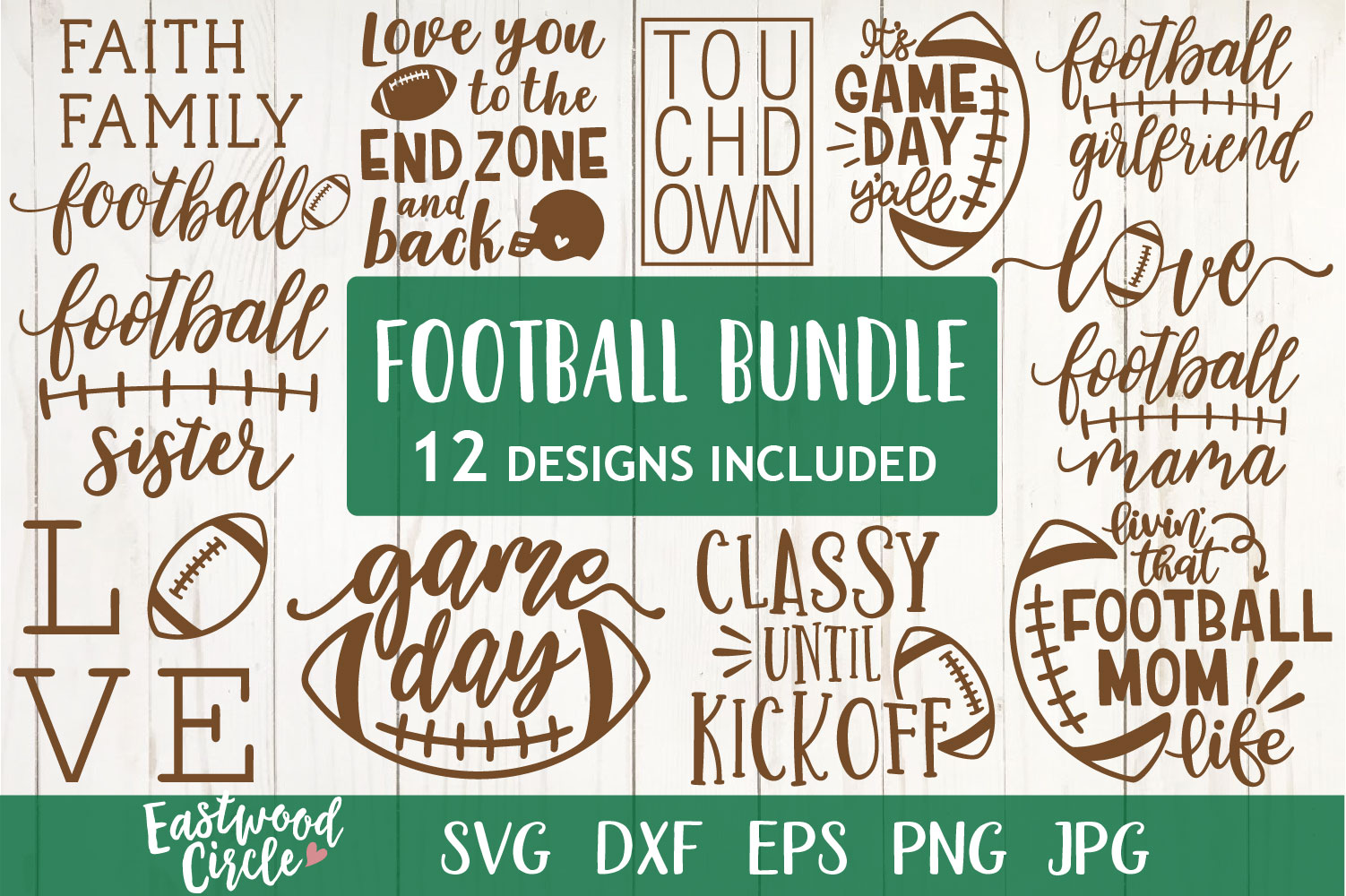 Football SVG Bundle - Cut Files for Crafters example image 1