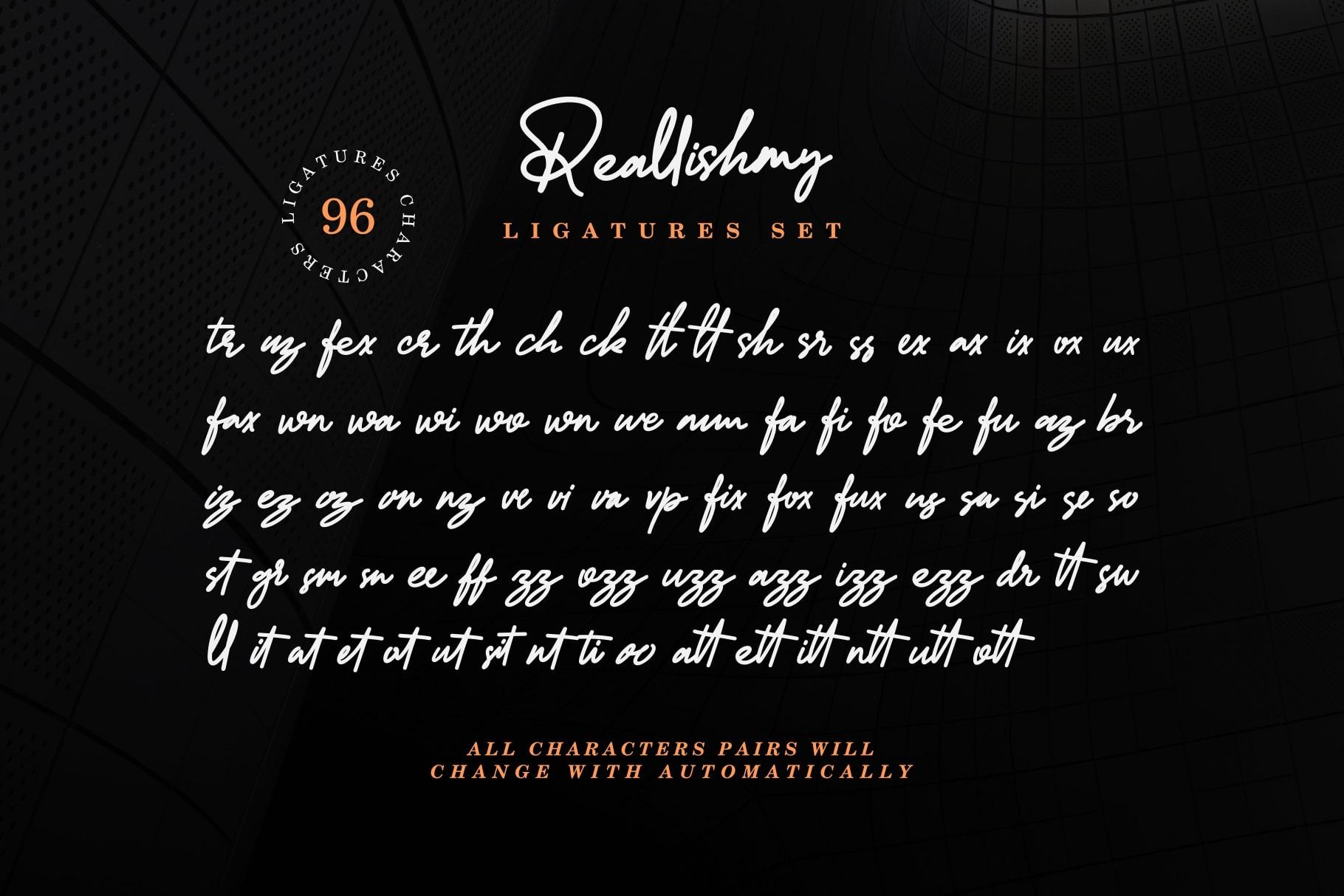 Reallishmy // Signature Font example image 10