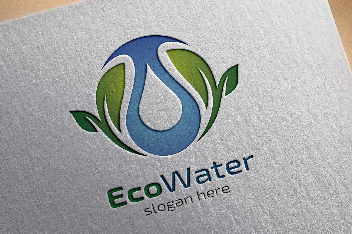 Eco water, Eco energy logo template example image 4