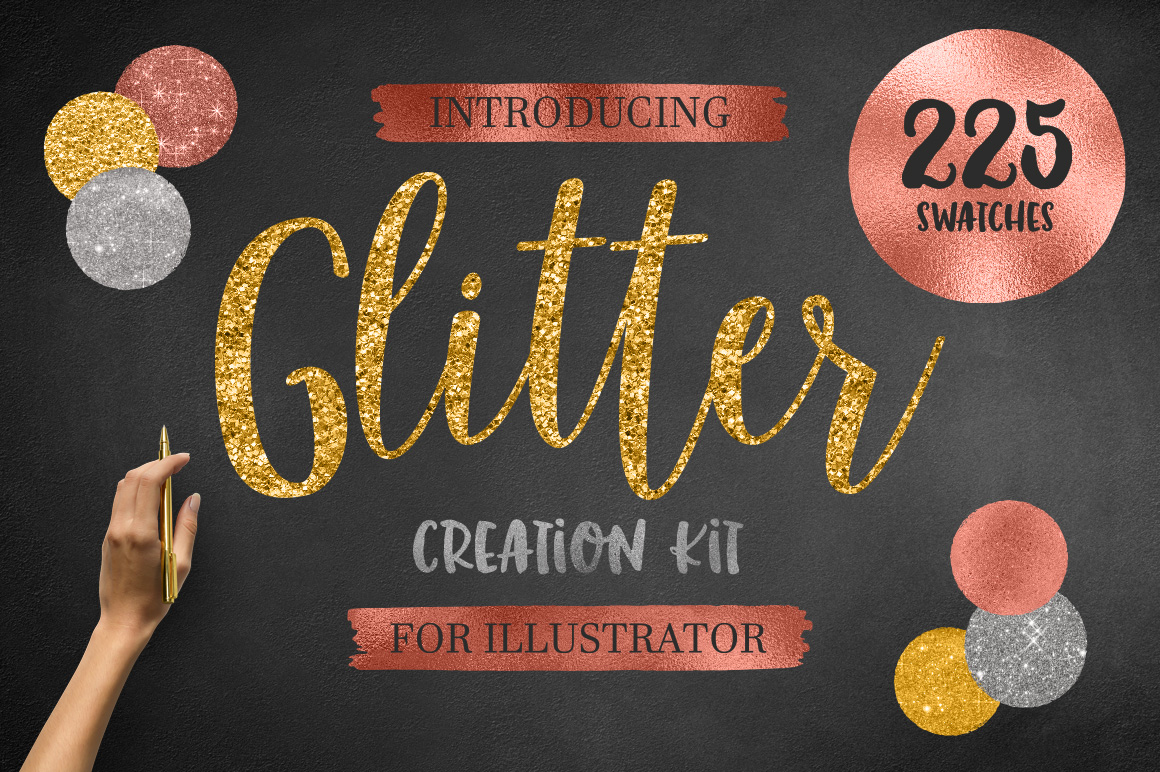 (AI) Glitter Creation Kit example image 1