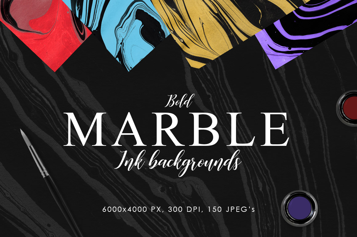 Bold Marble Ink Backgrounds example image 1