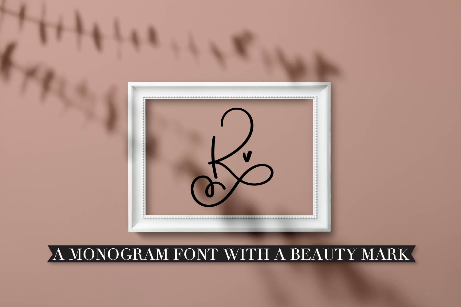 Scripty Monogram Font - With heart accents example image 5