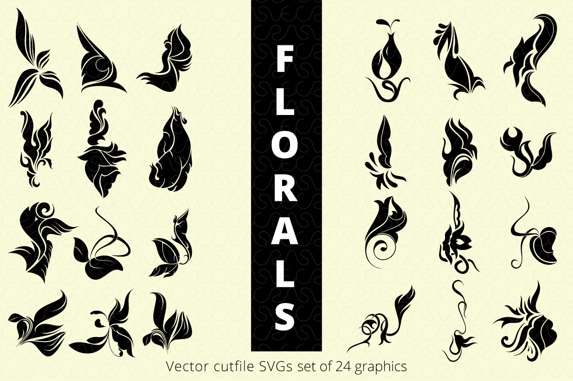 SVG Florals Cutfiles Bundle Pack of 270 vector graphic shape example image 23