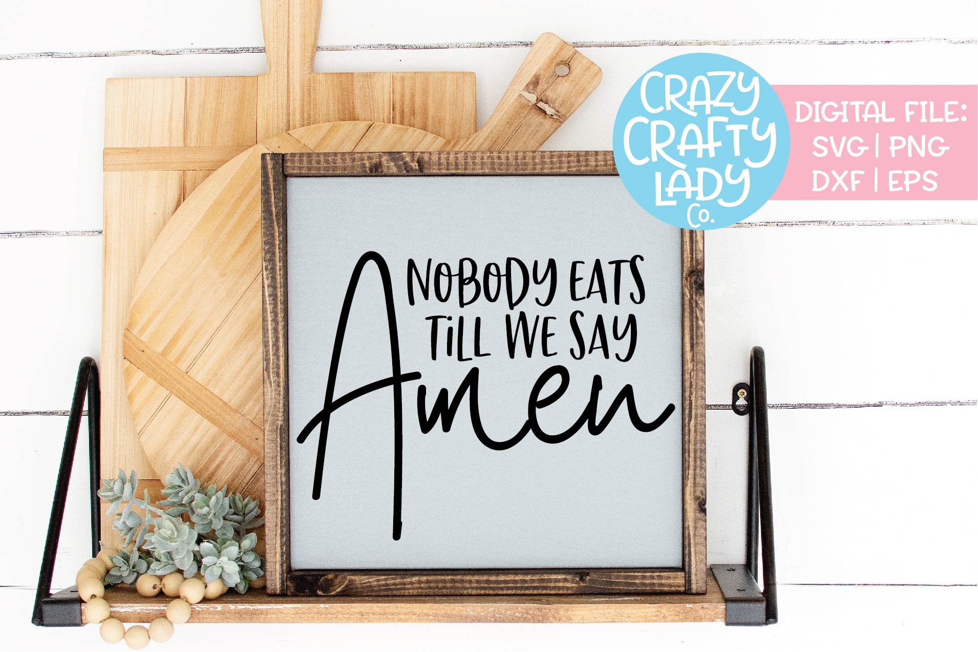 Christian Kitchen SVG DXF EPS PNG Cut File Bundle example image 9
