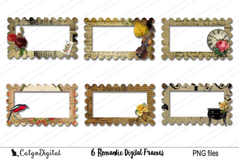 Digital Frames Clip Art PNG files example image 1