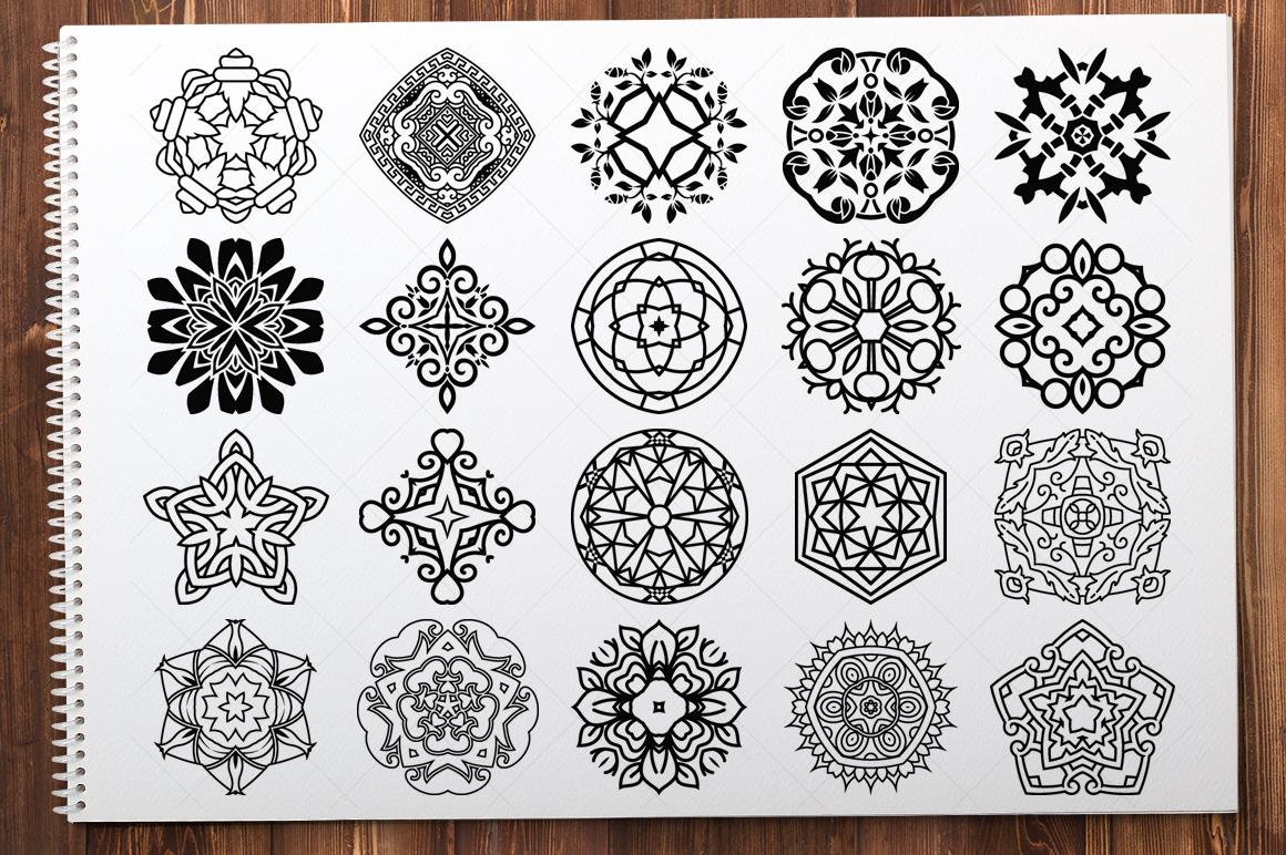 500 Vector Mandala Ornaments example image 26