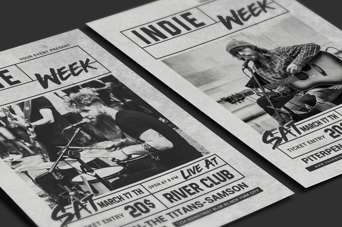 Indie Week Flyer example image 3