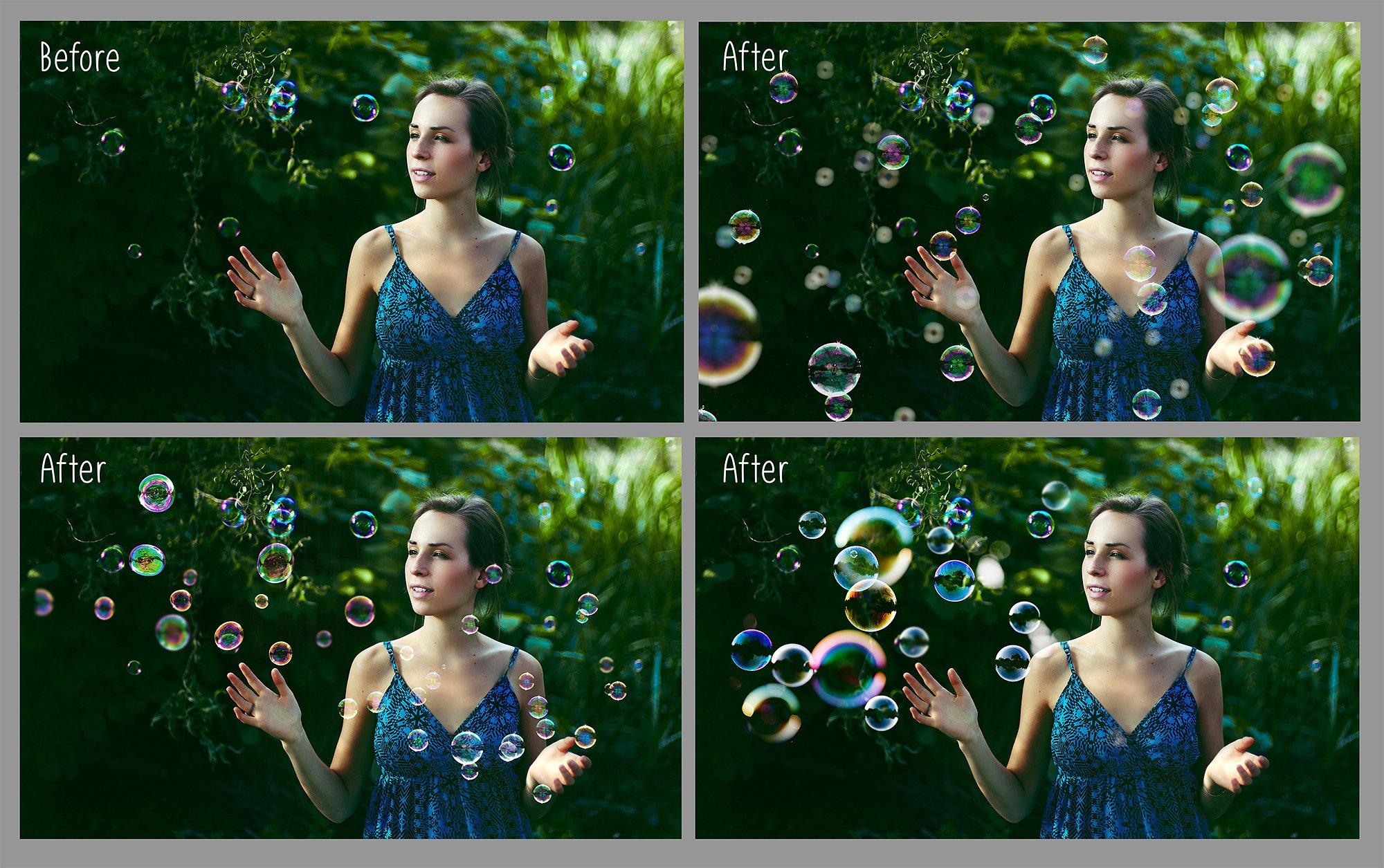 100 Bubbles Photoshop Overlays example image 3