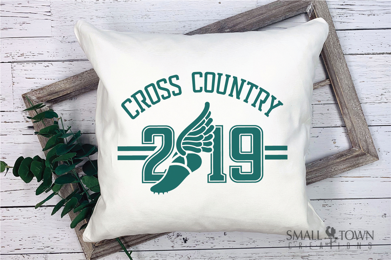 Cross Country, Running logo, Winged shoe, PRINT, CUT, DESIGN example image 3