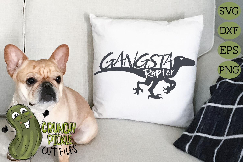 Gangsta Raptor Dinosaur svg example image 4