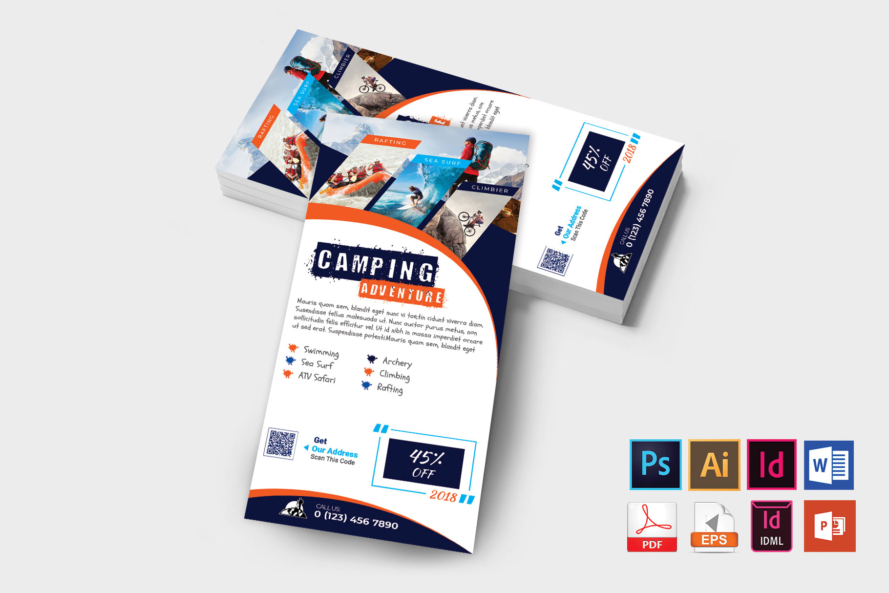 Rack Card | Camping Adventure DL Flyer Vol-03 example image 2