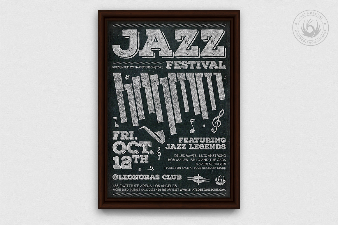 Jazz Festival Flyer Bundle V3 example image 8