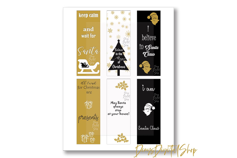Christmas Digital Bookmarks,Christmas Printable,Christmas example image 4