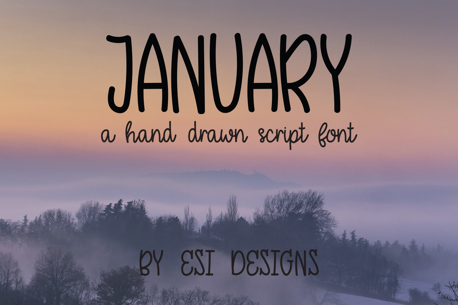 January - A Modern Hand Drawn Script Font example image 1