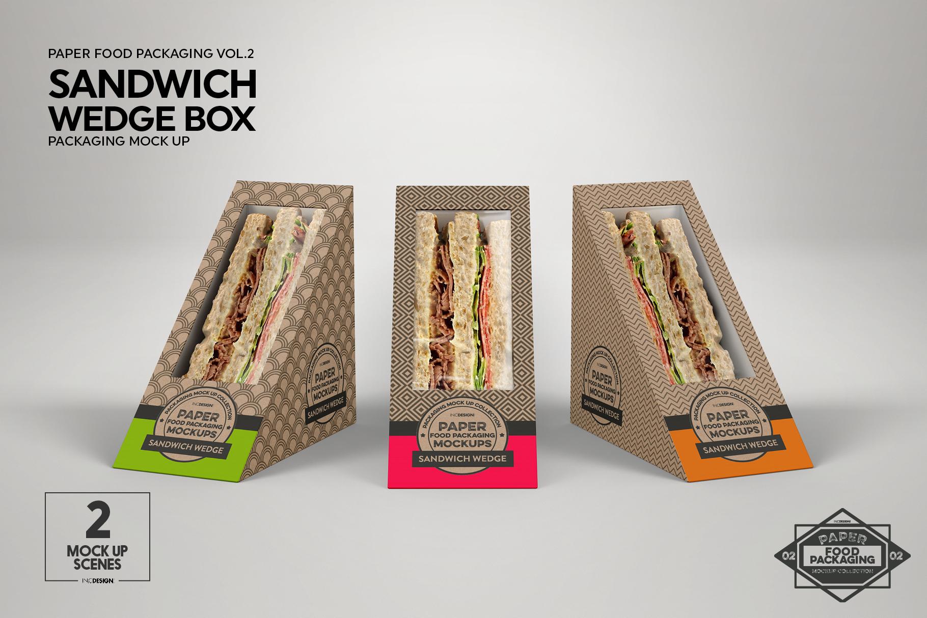 VOL.2 Food Box Packaging MockUps example image 6