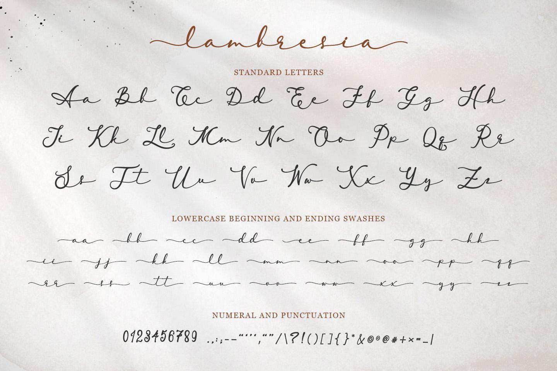 Lambresia Script example image 6
