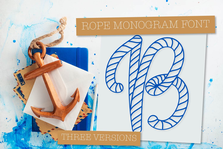 Rope Monogram - A Monogram Letter Trio! example image 8
