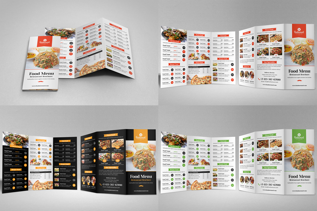 Food Menu Restaurant Brochure Bundle example image 6