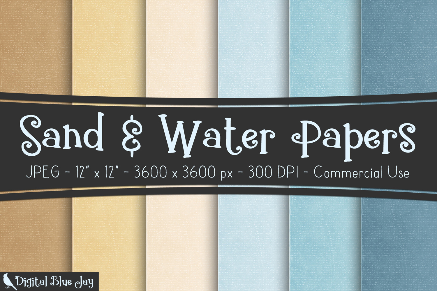 Digital Paper Textured Backgrounds - Sand & Water example image 1