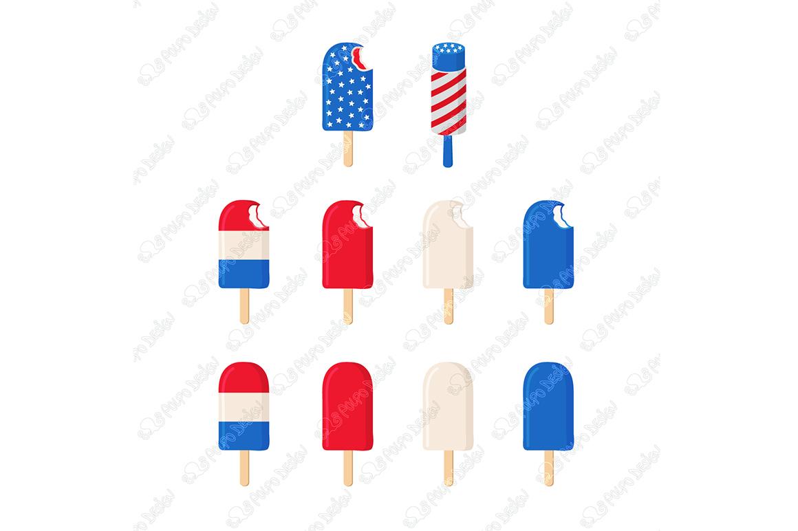 Patriotic Ice Cream clip art example image 4