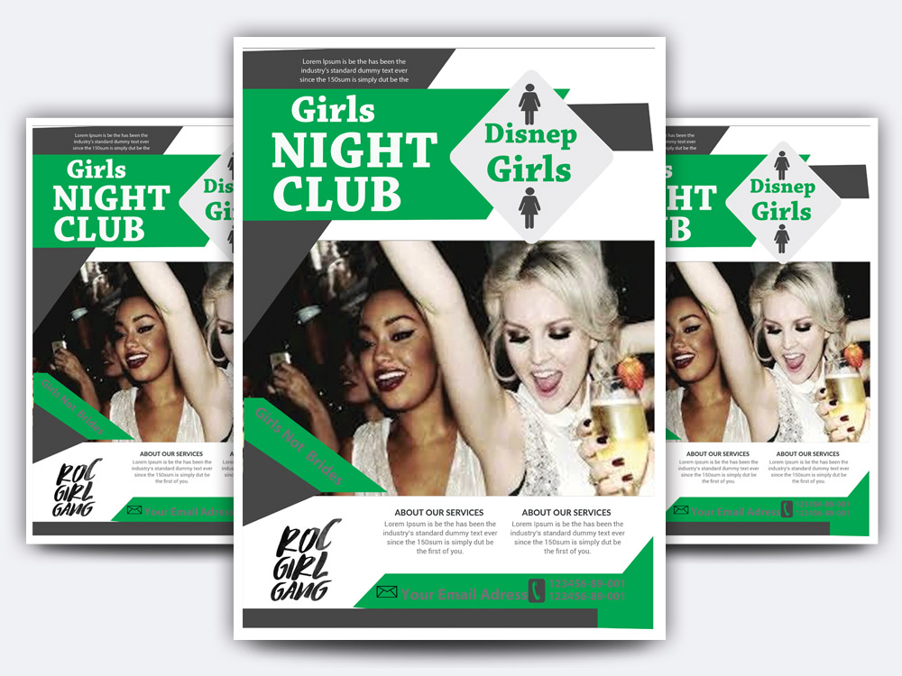 Girls Night Club Flyer example image 1