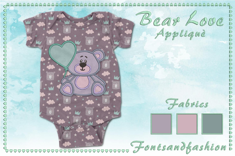 Bear Love_Appliquè example image 5