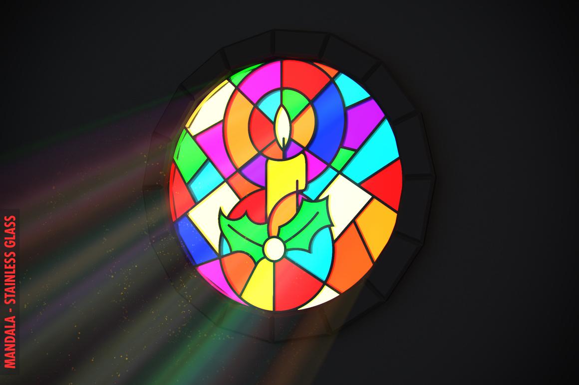 100 Christmas Mandala Ornaments example image 19