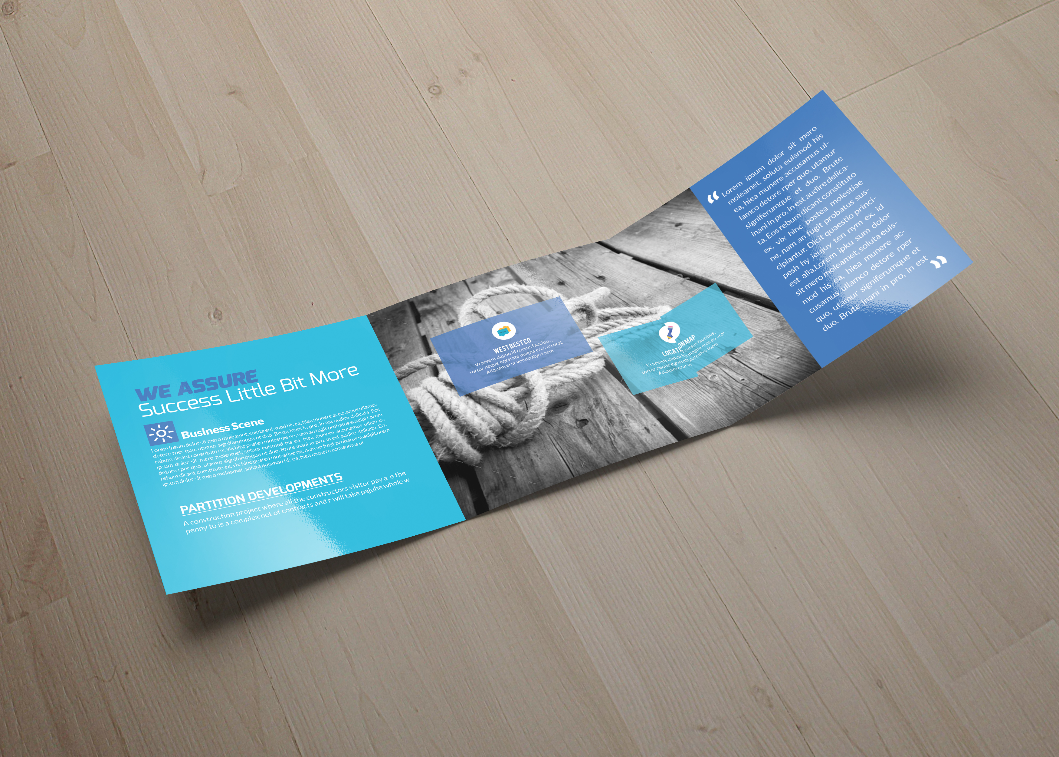Business Management Square Trifold Brochure example image 5