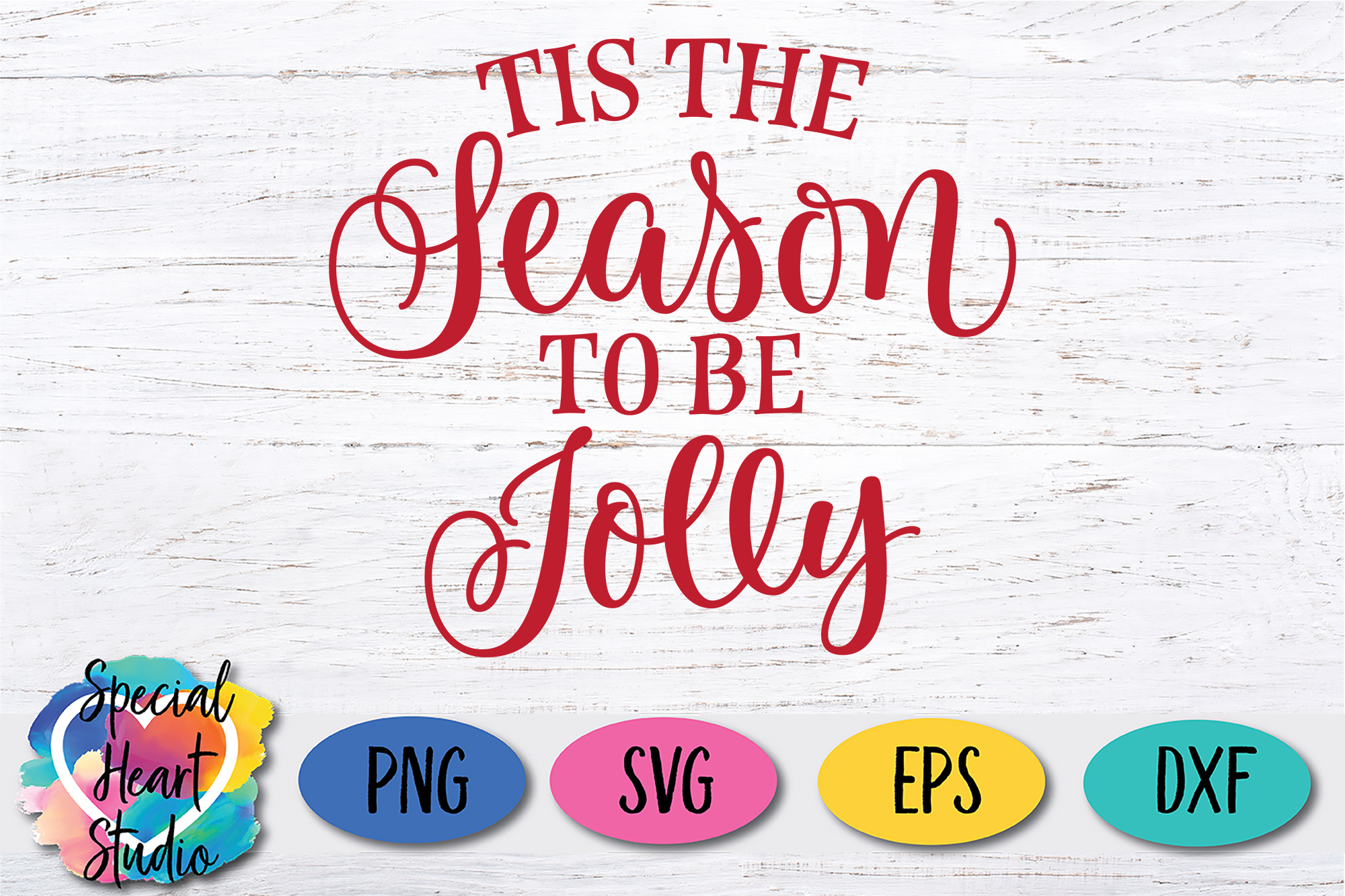Tis The Season To Be Jolly - A Christmas SVG Cut File example image 2