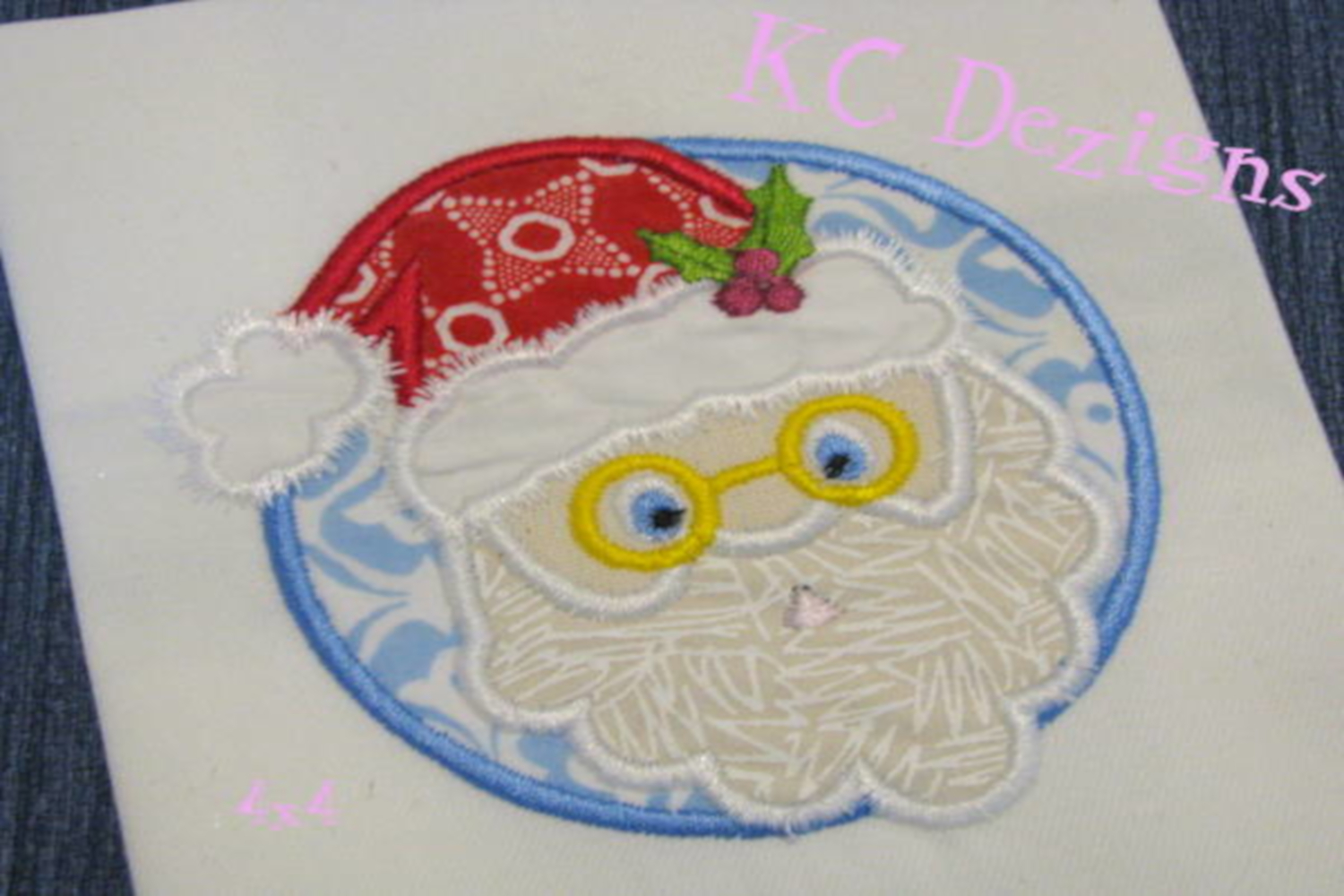 Santa Circle Machine Applique Embroidery Design example image 3