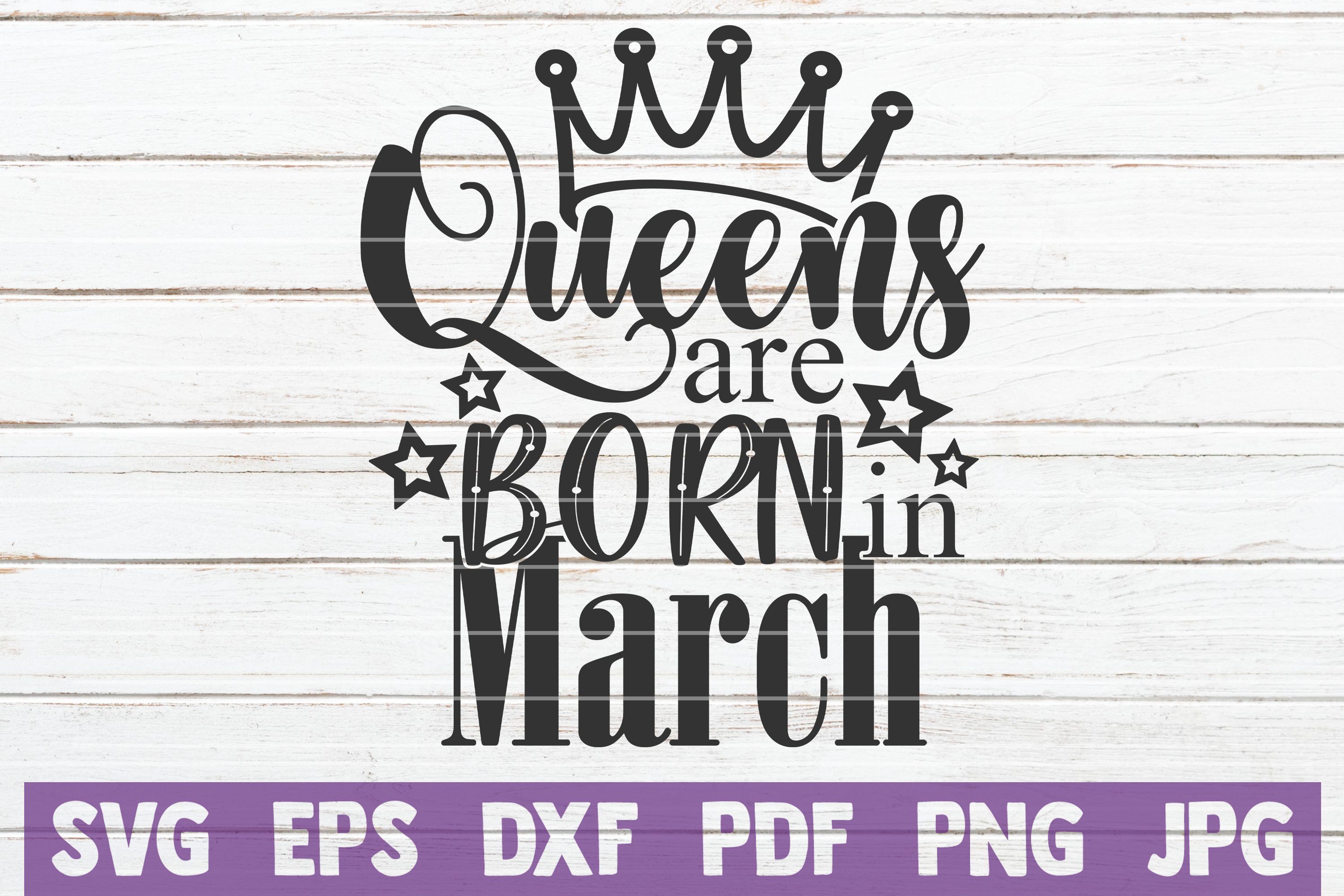 Queens Are Born In ... SVG Bundle | Birthday girl Cut Files example image 9