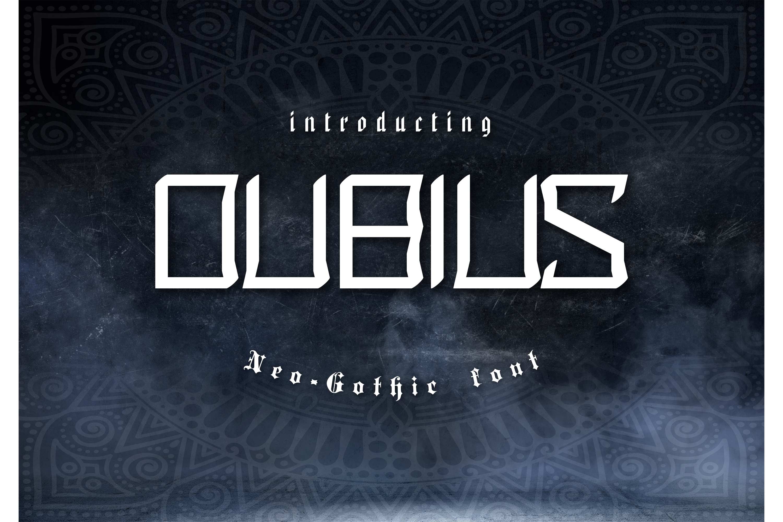 Dubius Neo Gothic Font example image 1