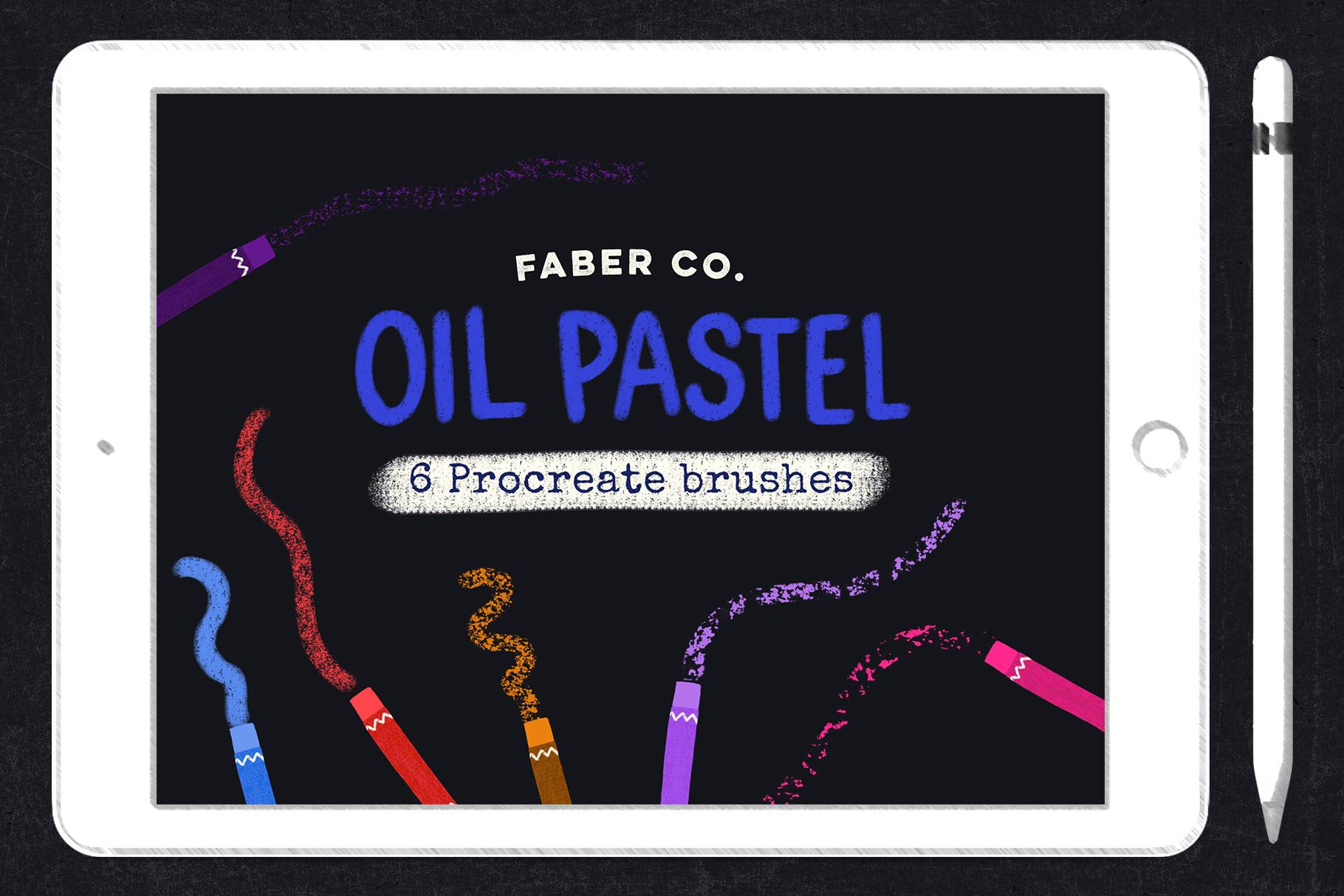 Procreate Oil Pastel Brushes example image 1