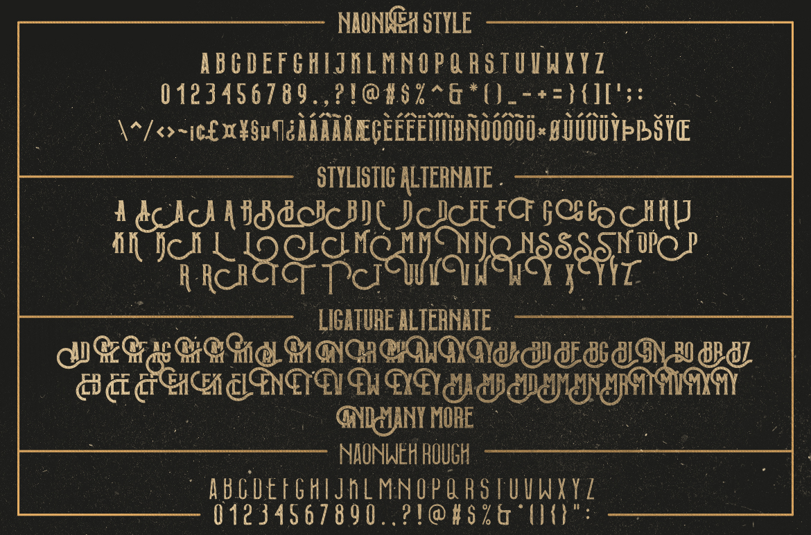 Naonweh Typeface example image 8