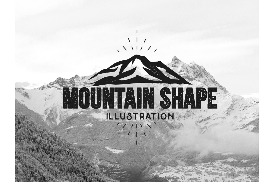 Mountain vector illustrations example image 1