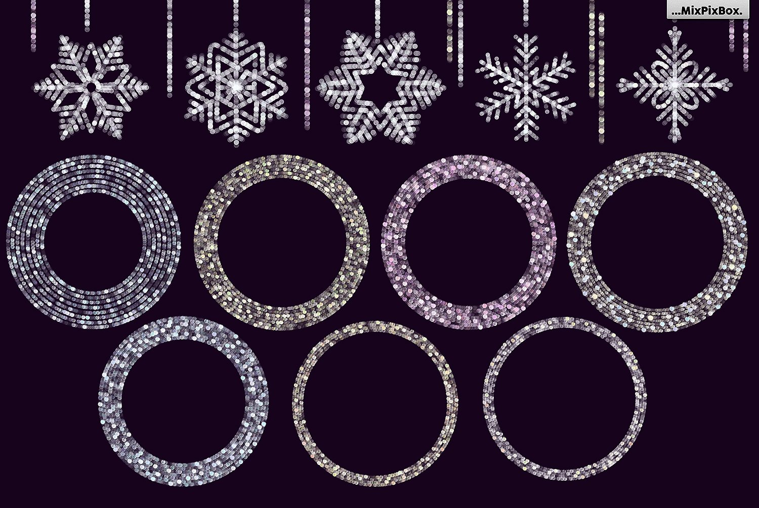 Snowflakes clipart and backgrounds example image 4