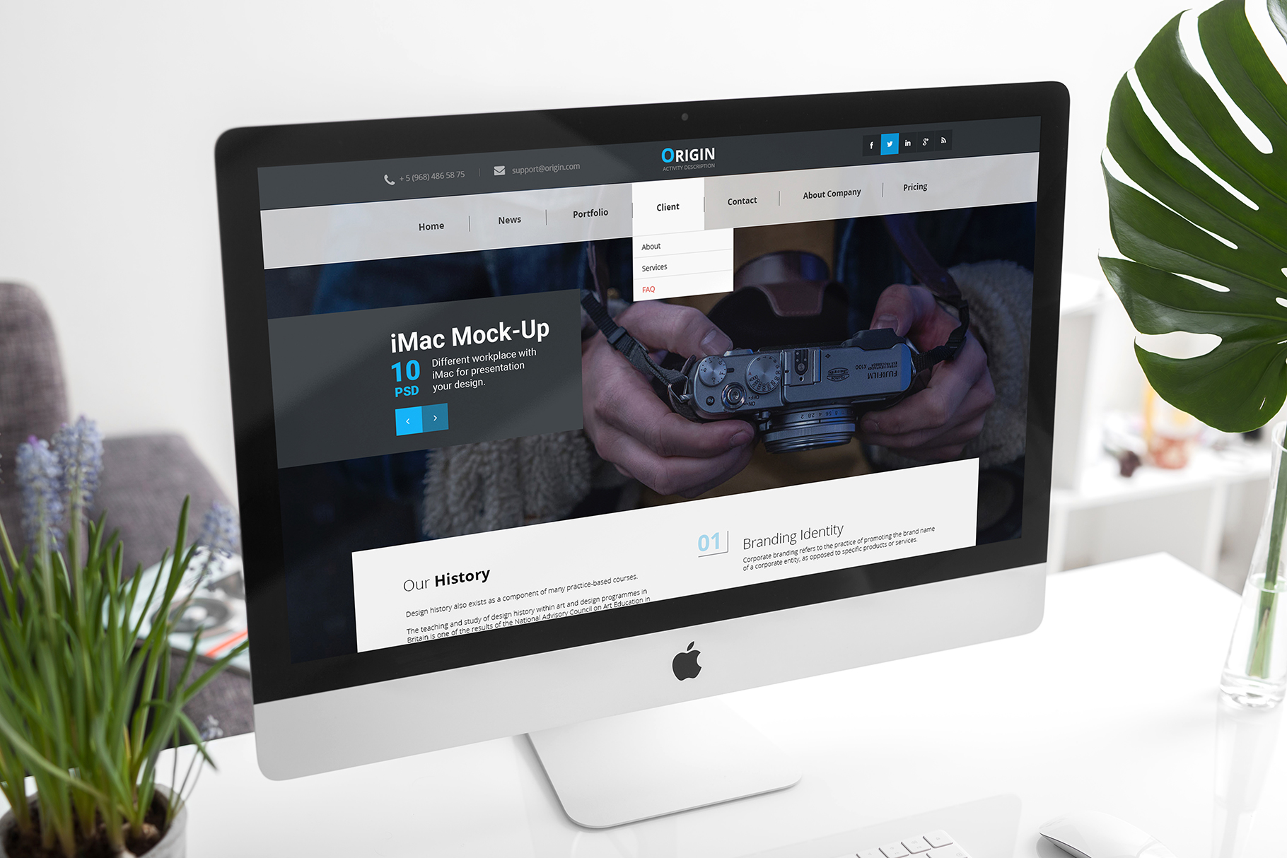 iMac Mock-Up's Clean Style example image 3
