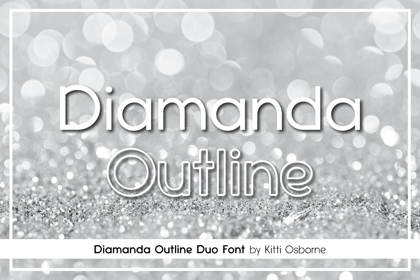 Diamanda Font Family Bundle includes 6 crafting fonts example image 12