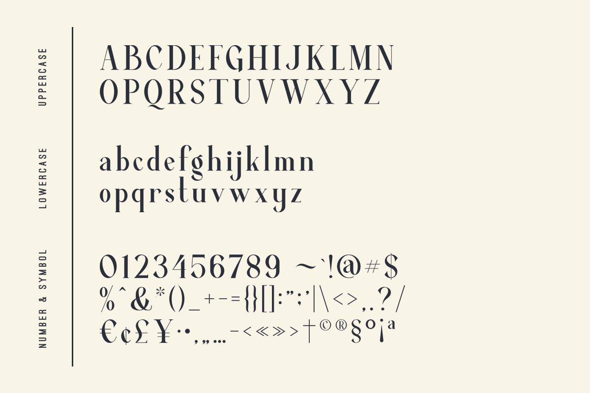Average - Modern Serif Typeface example image 13