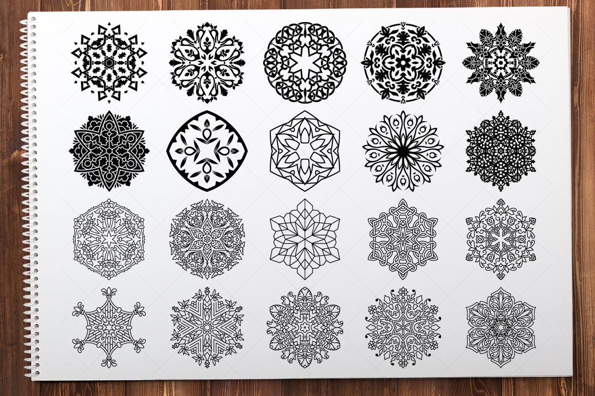 500 Vector Mandala Ornaments example image 16