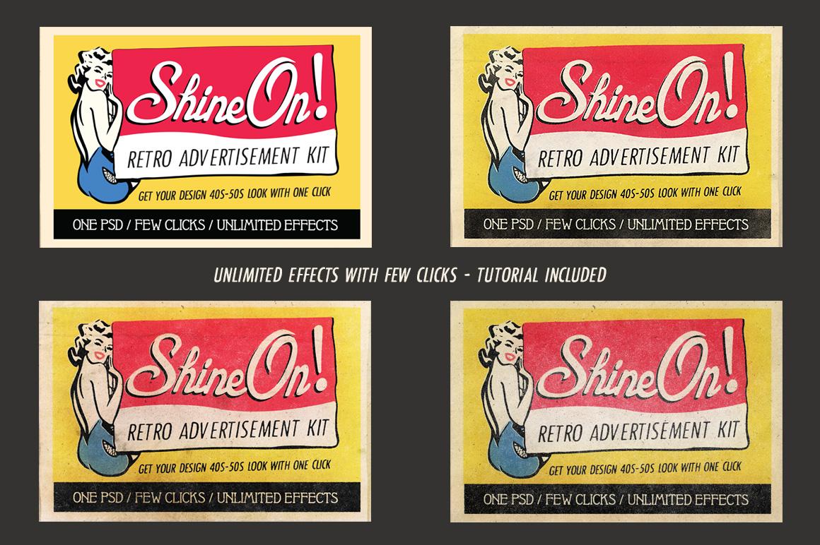 Shine On - Retro Advertisement Kit example image 5