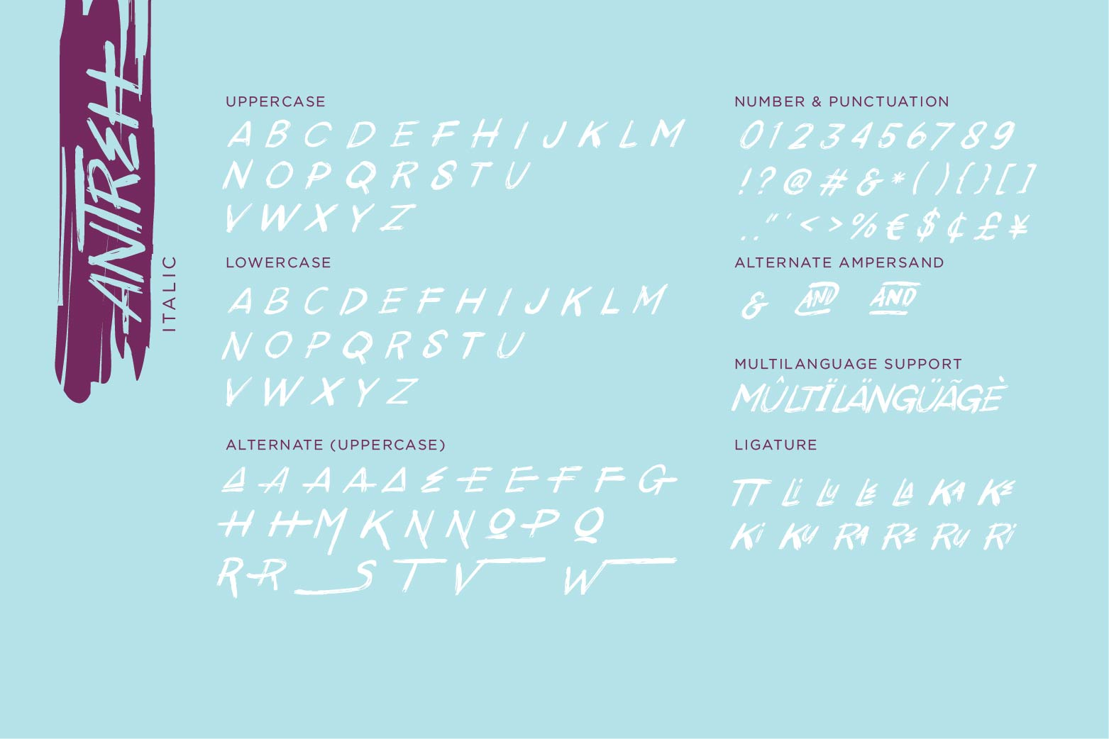 Antreh 2 Font Plus Extra example image 9
