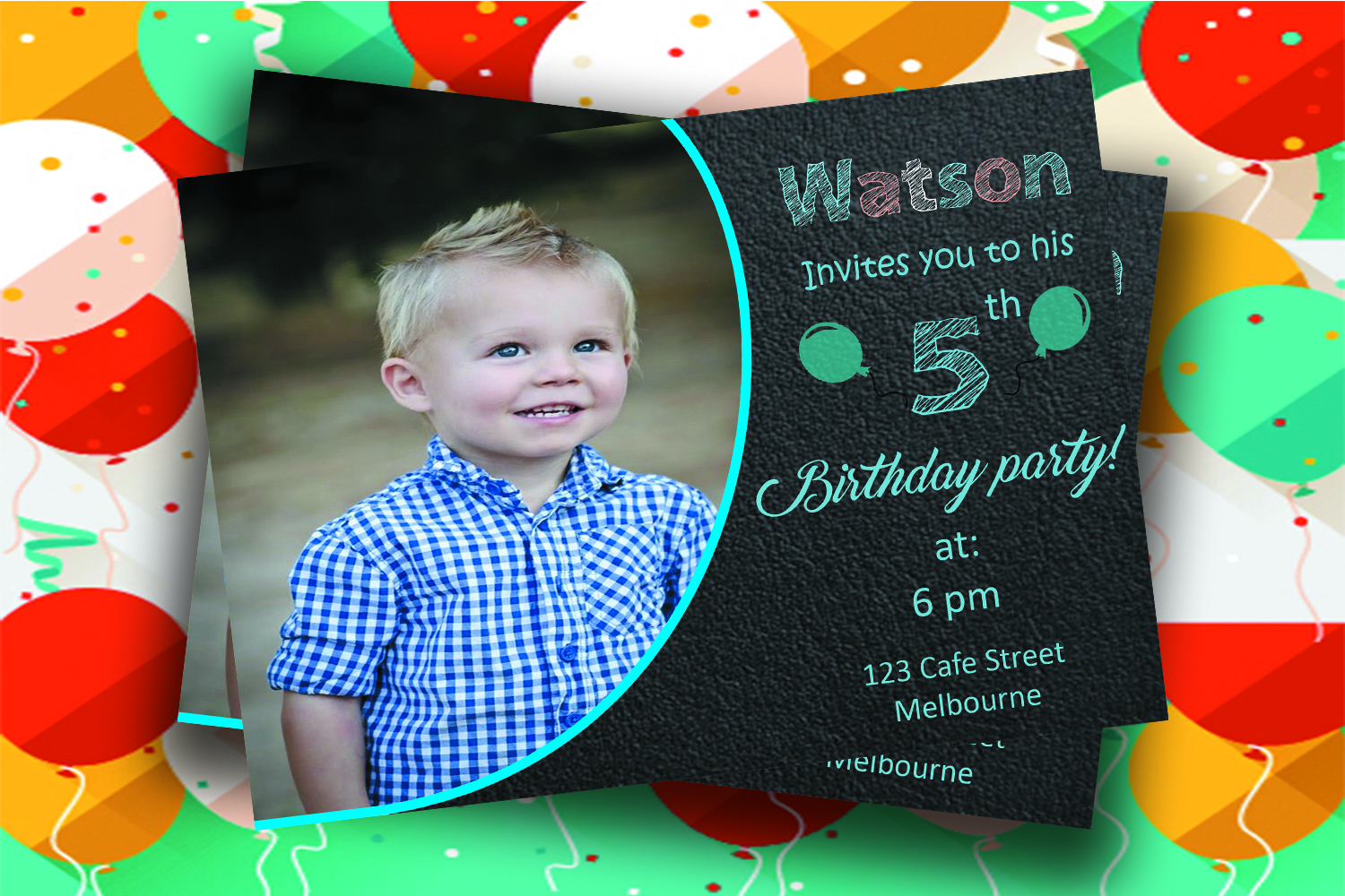Birthday invitation card example image 2