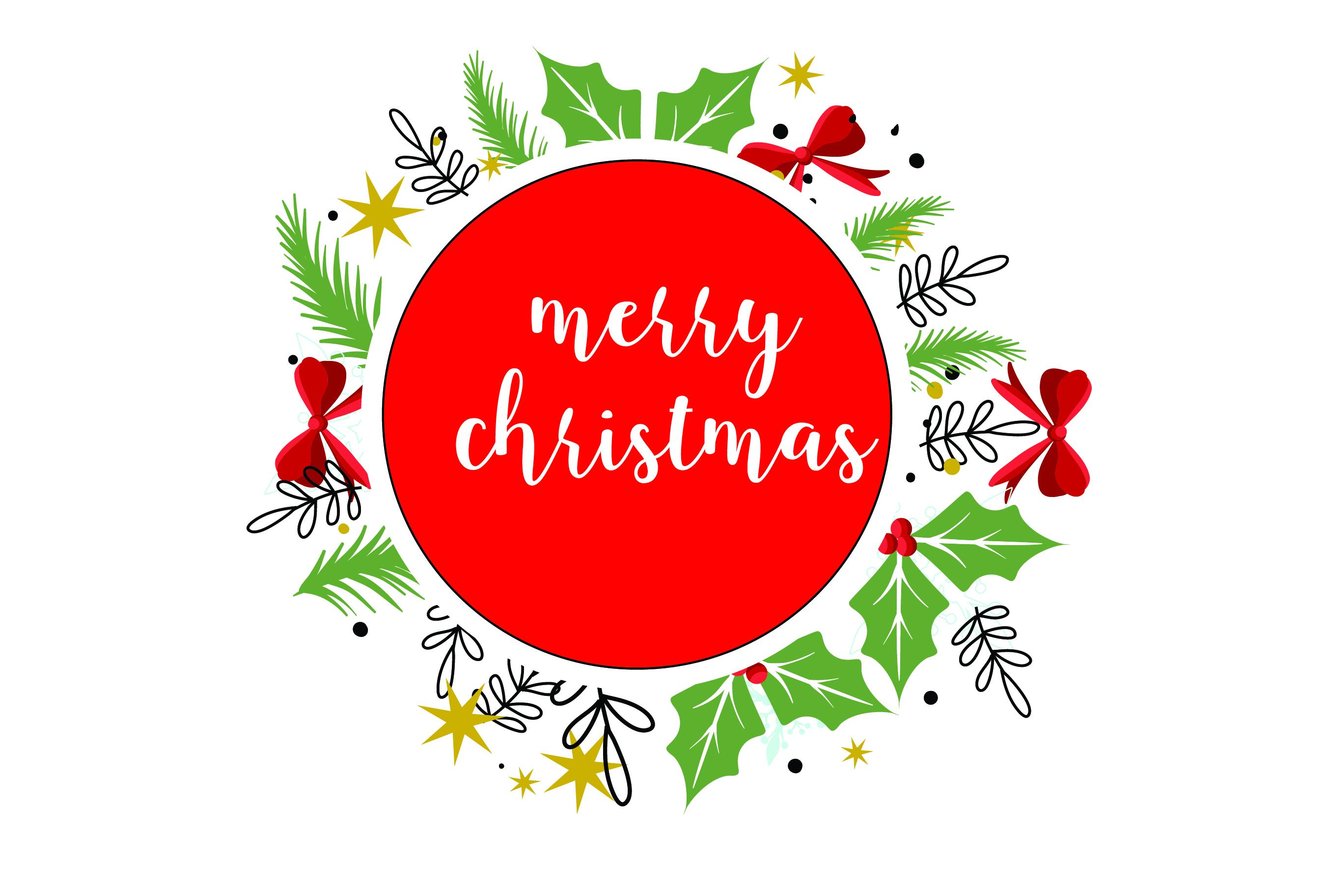 Merry Christmas-SVG Cut File-Coffee Mug Design-Greeting Card example image 4