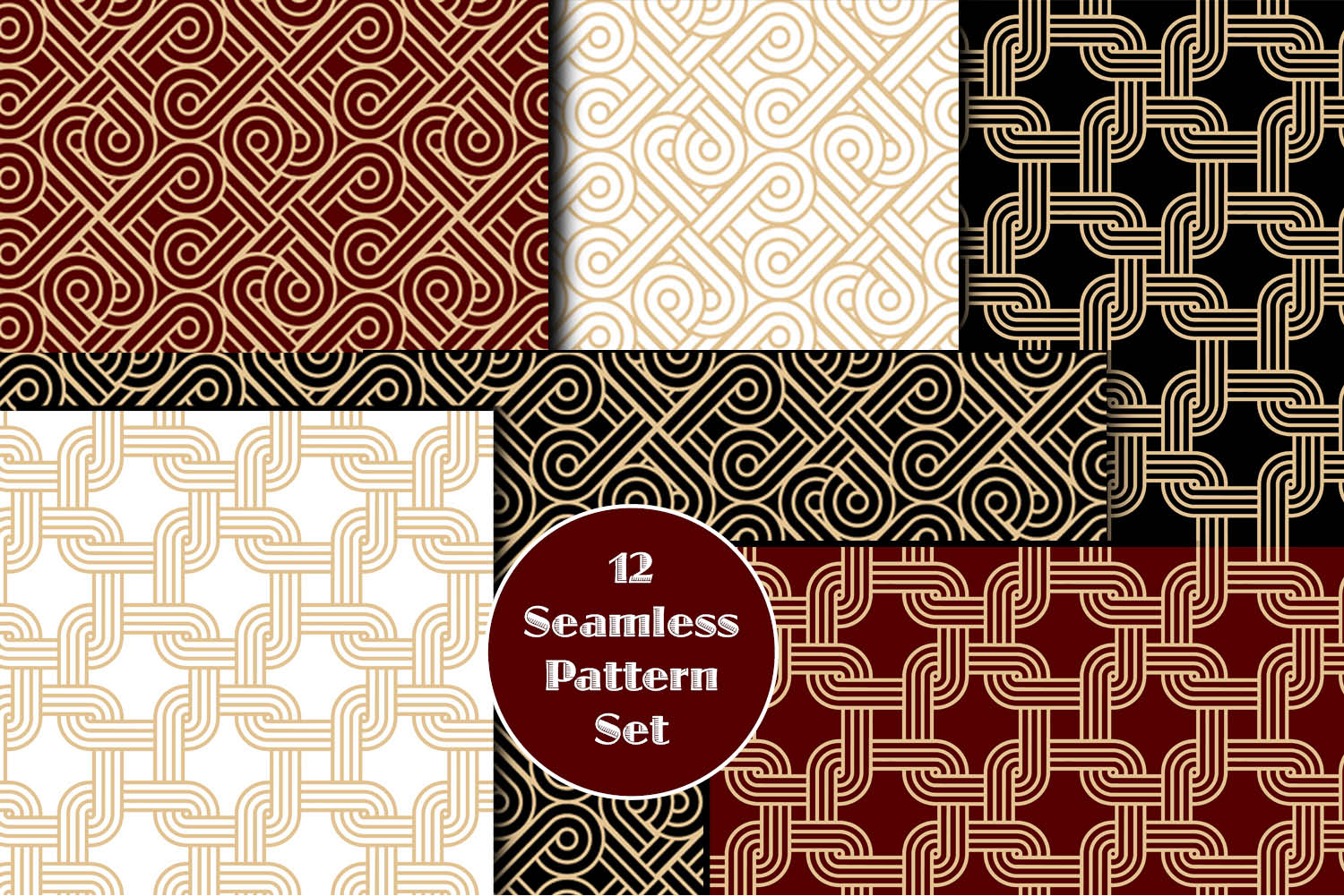 12 Seamless Pattern Set example image 1