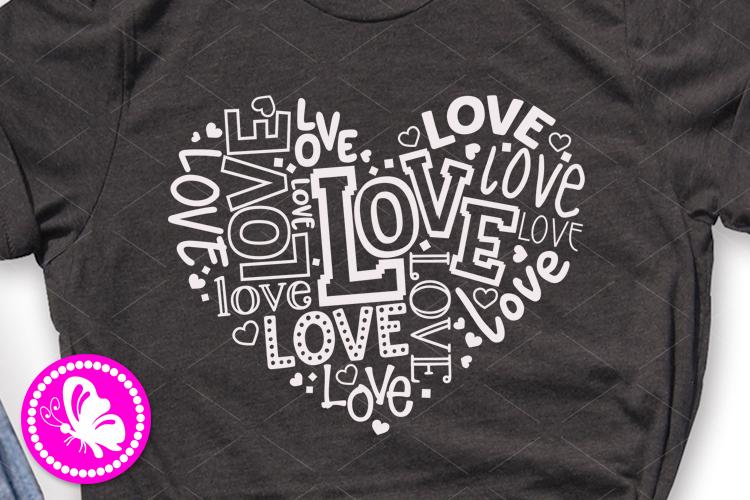 Love sign SVG Valentine's day decor Girls Valentine gifts example image 1